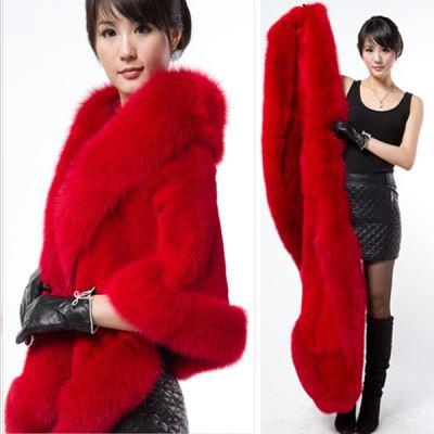 Chống theo mùa điều trị lông khăn choàng nữ 2017 mới mùa đông giả con cáo lông mink fur coat Hàn Quốc phiên bản của chiếc áo choàng