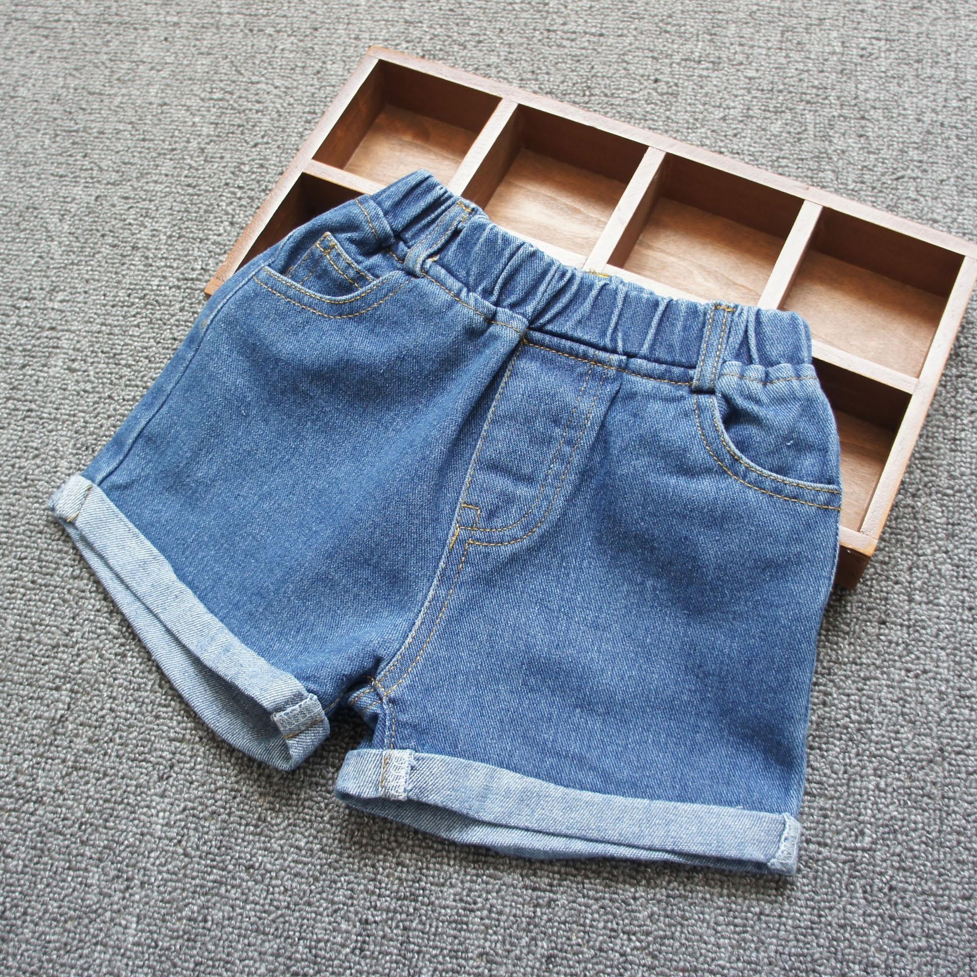 Cô gái quần short denim 2018 mùa hè mới lớn trẻ em mặc quần short trẻ em bông lỏng thường nóng quần Hàn Quốc phiên bản