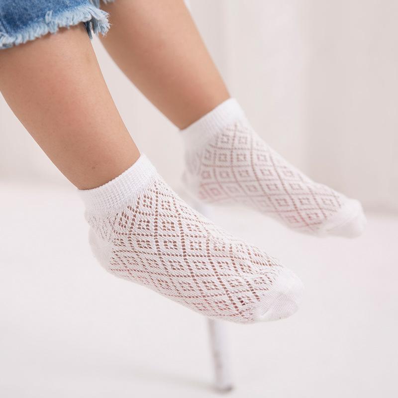 儿童袜子纯棉夏季薄款春男童女童宝宝网眼袜0-1-3-6-9岁宝宝袜子_领取3元淘宝优惠券