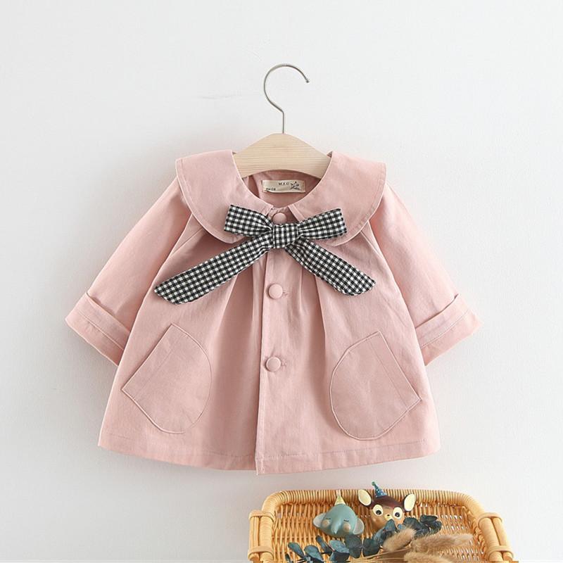 Áo khoác bé gái mùa xuân và mùa thu Phiên bản Hàn Quốc của trẻ em cardigan bé gái bé gái kiểu tây mùa xuân áo khoác mỏng 0-3 tuổi 1 - Áo khoác