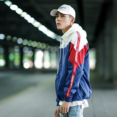 2017 new hip hop tide thương hiệu áo khoác nam đẹp trai áo gió Hàn Quốc phiên bản của ulzzang kem chống nắng phần mỏng vài áo khoác
