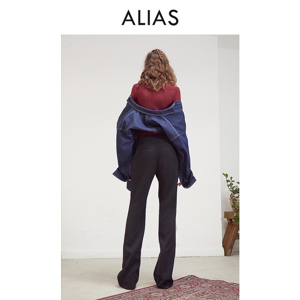 ALIAS 原创独立设计师品牌 工装感绑带牛仔衬衫