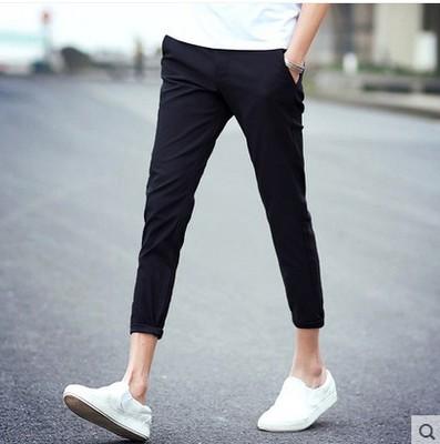 Mùa xuân và mùa hè thường chín quần của nam giới xu hướng Hàn Quốc phiên bản của tự trồng 9 điểm quần đàn hồi miễn phí hot feet nhà tạo mẫu tóc quần là mỏng Quần