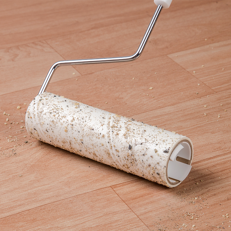粘毛器滚筒粘尘纸替换卷纸长柄滚刷沾灰吸毛发滚轮地板黏々沾毛神器