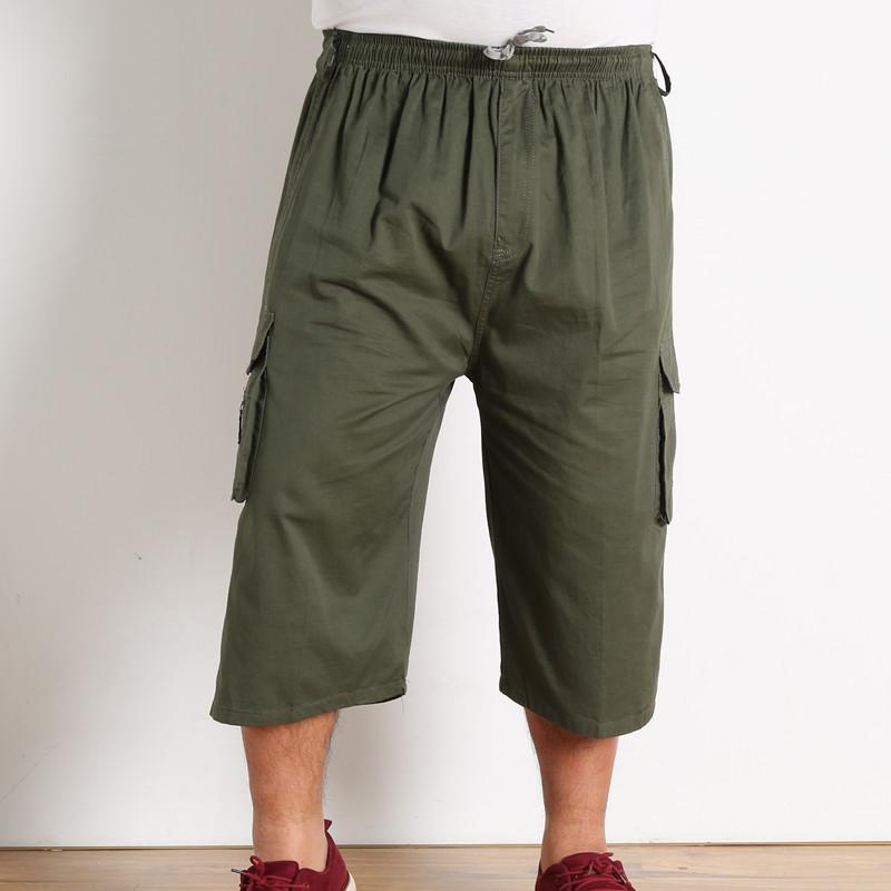 Trung niên và cũ cotton nam quần cắt quần eo cao cộng với phân bón XL lỏng thường ngắn 7 quần mùa hè phần mỏng