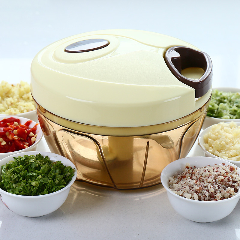 宝优妮手动绞肉机便携式粉碎机绞菜器厨房料理机搅肉机家用捣蒜器
