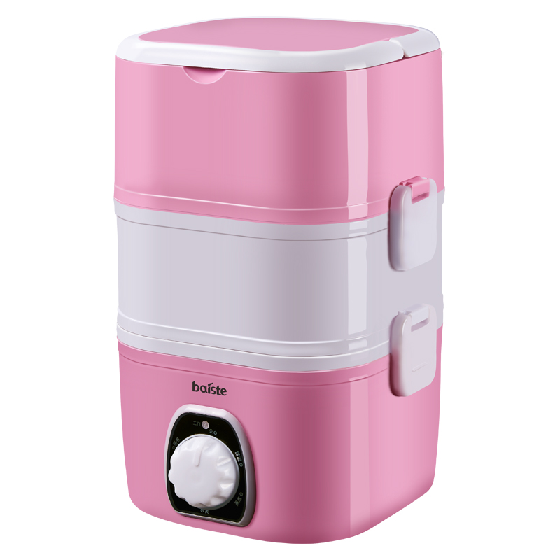 【百世特】便携式蒸煮二层电热饭盒