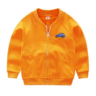 男童小汽车外套春秋装新款儿童装衬衫拉链衫宝宝衣服外套