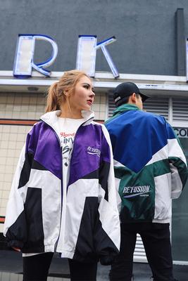 Châu âu và Hoa Kỳ đường phố hip hop hiphop phần mỏng áo khoác những người yêu thích TÌNH YÊU lỏng áo khoác áo khoác áo gió nam giới và phụ nữ