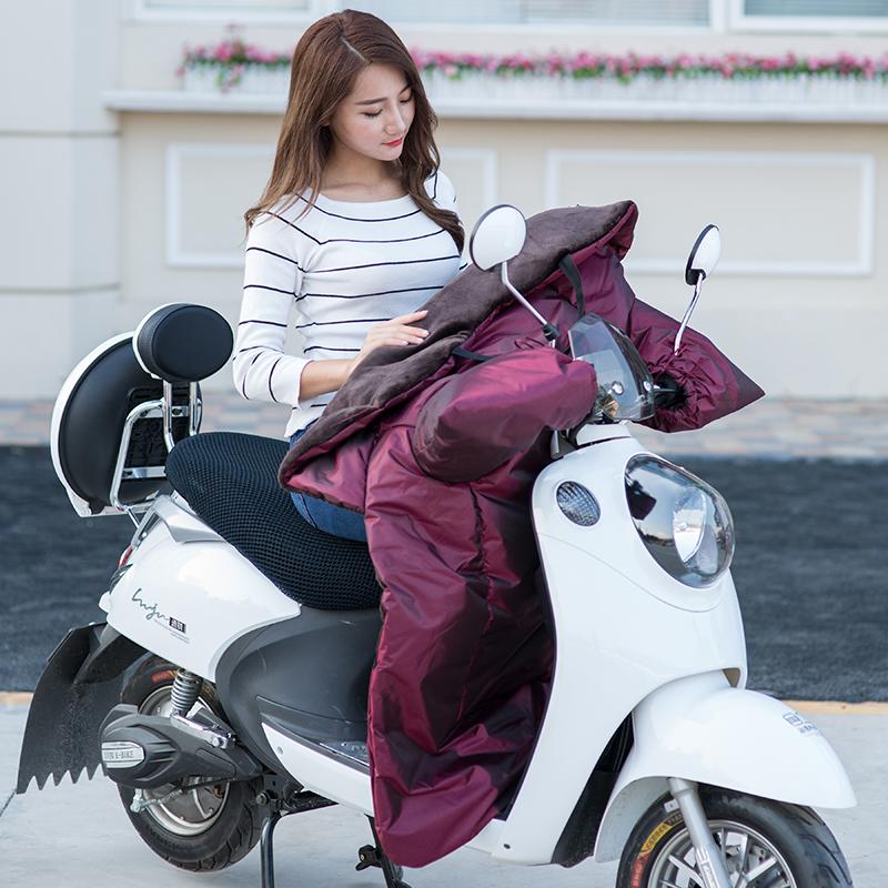 电动摩托车挡风被冬季加绒加厚电车防水小电瓶自行车防晒衣罩秋女