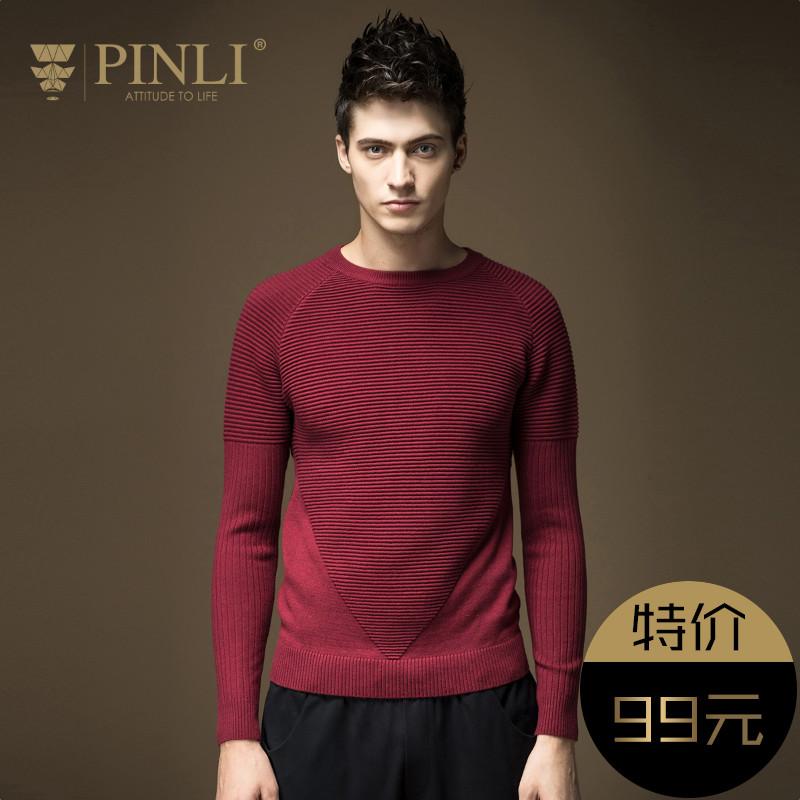 PINLI sản phẩm mùa xuân nam mỏng len áo len nam triều S16311608