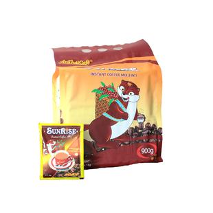 安泰越南奶香味三合一速溶特濃甜咖啡加糖加奶SunRise50包/袋900g