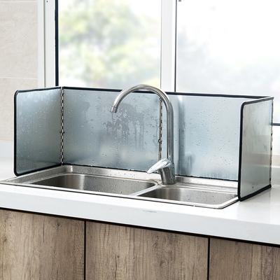 煤气灶镀锌挡油板隔热板厨房燃气灶炒菜隔油板家用灶台防溅油挡板