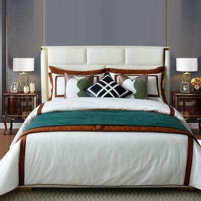 后现代新中式床品样板房间床品多件套展厅别墅设计床上用品定制
