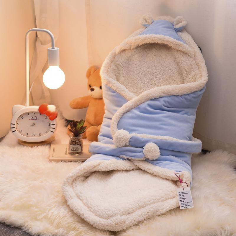 新生儿用品初生包被婴儿抱被秋冬款加厚保暖襁褓宝宝抱毯睡袋盖毯