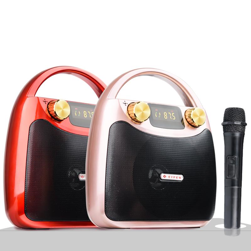 广场舞音响便携式小型迷你手提音箱户外蓝牙低音炮移动地摊播放器