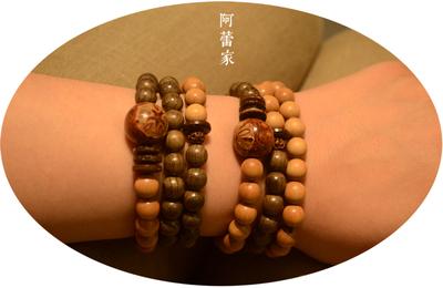 「佛泽。言者」印度老山檀阴沉木创意佛珠男女款手串┆阿蕾家P31