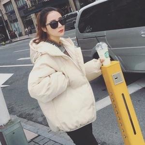 Chống mùa Hàn Quốc phiên bản 2018 mùa đông mới xuống bông độn bánh mì quần áo phụ nữ đoạn ngắn fluffy bông áo khoác bông áo khoác dày áo