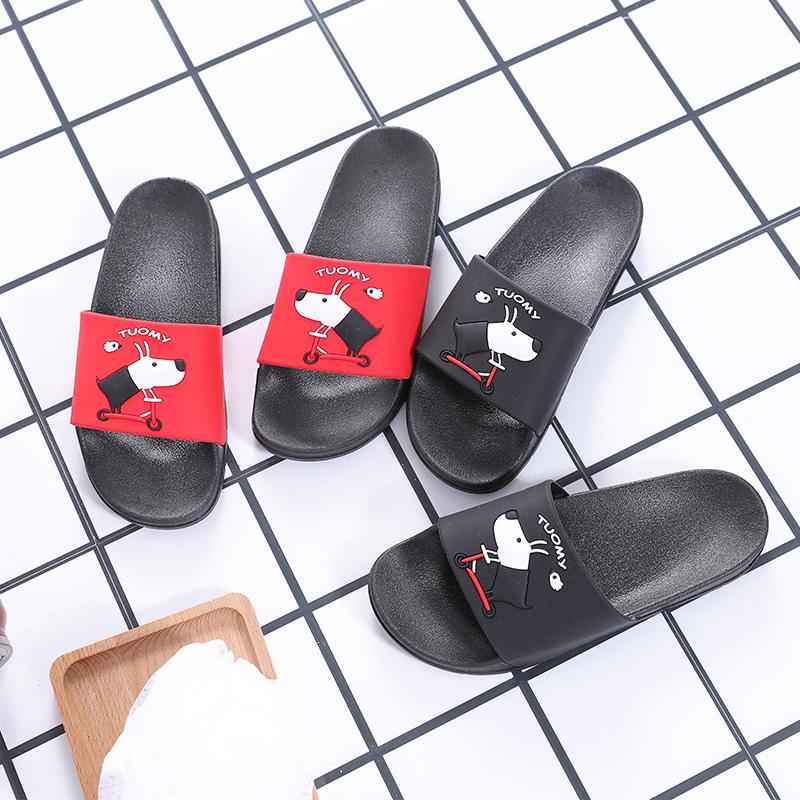 拖鞋卡通夏季室外家居家用浴室内洗澡防滑情侣厚底潮外穿凉拖鞋女