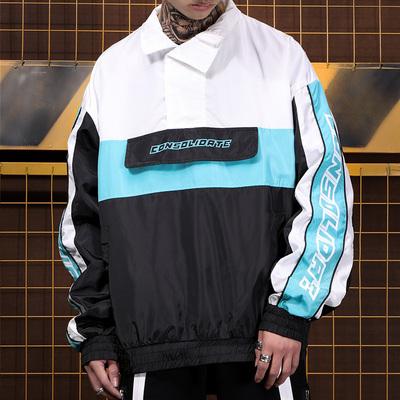 High Street Tide thương hiệu thanh niên nam xu hướng áo gió đường phố hip hop ve áo màu sắc phù hợp với sinh viên áo mỏng triều Áo gió