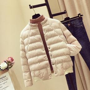 冬季韩版金丝绒轻薄短款小棉袄