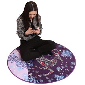 圆形地毯电脑转椅吊篮藤椅垫
