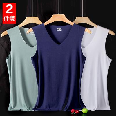 Vest của nam giới phương thức không có dấu vết băng lụa mỏng thể dục thể thao rào cản tay t- shirt bông đáy áo sơ mi mùa hè Áo vest cotton