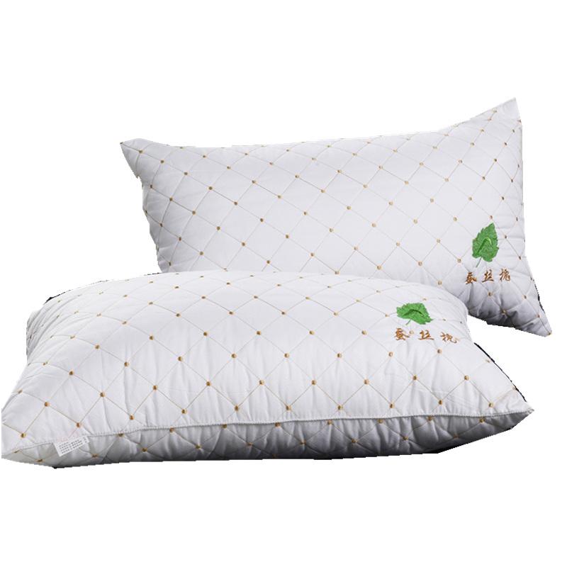 蚕丝枕头枕芯防螨虫真空酒店护颈枕头