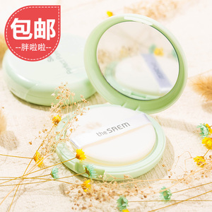 Tươi saem bột biscuit bột bạc hà bột trang điểm kéo dài kiểm soát dầu làm trắng làm mới trong suốt Hàn Quốc