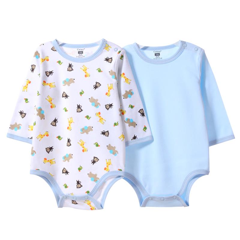 包屁衣长袖婴儿春秋款连体衣宝宝爬服纯棉婴幼儿衣服睡衣三角哈衣