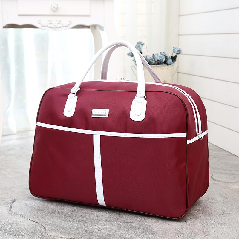 秋冬大容量韩版短途行李包女旅行包女手提轻便简约旅行袋行李袋