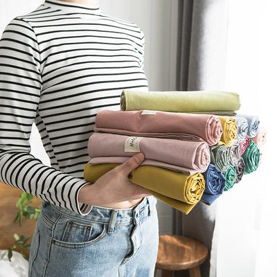 北欧全棉水洗棉枕套纯棉纯色枕头套单人学生枕芯套48x74cm一对拍2