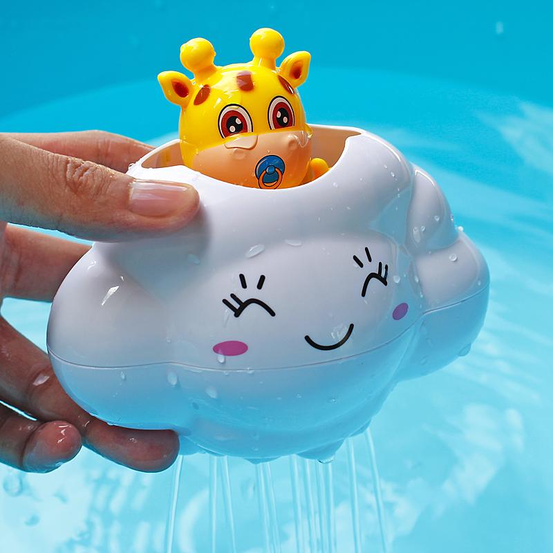 抖音同款玩具:会下雨的云朵小鹿玩具+游泳乌龟