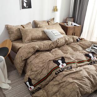 Корейский chic волна карты мультики четыре части кровать статьи 1.5 одеяло студент комната с несколькими кроватями лист три образца 1.2