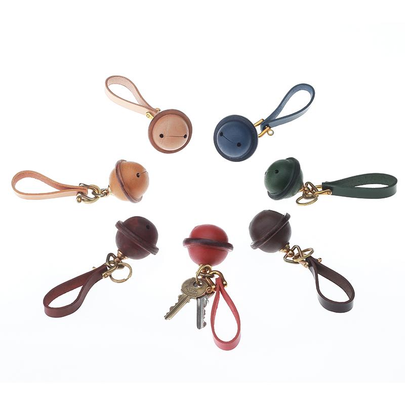 墨刻手作原创手工铃铛包饰植鞣皮汽车钥匙扣包包挂件创意小礼品