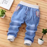 Trai denim cắt quần mỏng quần short trẻ em mùa hè 2018 mùa hè phần mỏng quần trẻ em trong các trẻ em lớn 7 quần