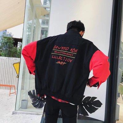 Ins siêu lửa áo khoác nam sinh viên Hàn Quốc phiên bản của xu hướng lỏng đẹp trai Châu Âu và Mỹ hip hop áo khoác hiphop áo sơ mi nam Áo khoác