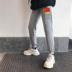 Mua một tặng một quần miễn phí quần thể thao nam chân quần ống rộng mùa xuân và mẫu mùa thu Quần Harem hình thang xu hướng Hàn Quốc - Quần mỏng