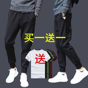 2018 người đàn ông mới của quần âu thể thao mùa hè quần thời trang chùm chân hậu cung quần phần mỏng Hàn Quốc phiên bản của xu hướng quần dài