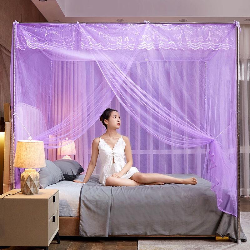 蚊帐家用卧室单开门1.2单双人1.5支架1.8加密1米公主风老式床2米