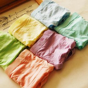 6 sợi tre đồ lót màu tinh khiết của phụ nữ đồ lót bow cotton phương thức quần lót tam giác túi hip đồ lót phụ nữ