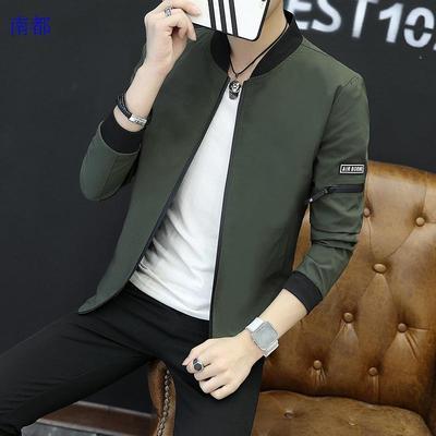 2017 mùa thu người đàn ông mới của áo khoác phần mỏng Hàn Quốc phiên bản của thanh niên đẹp trai đồng phục bóng chày áo khoác nam áo khoác giản dị xu hướng Đồng phục bóng chày