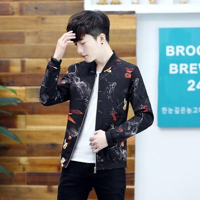 Mùa xuân và mùa thu 2018 người đàn ông mới của áo khoác giản dị Slim áo Hàn Quốc nam xu hướng thời trang đẹp trai phần mỏng trên quần áo Đồng phục bóng chày