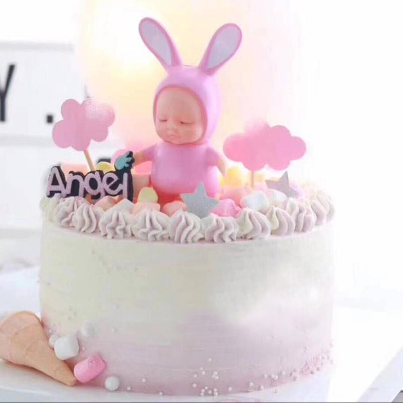 派对蛋糕烘焙装饰动物公仔摆件情景生日蛋糕甜品台摆件