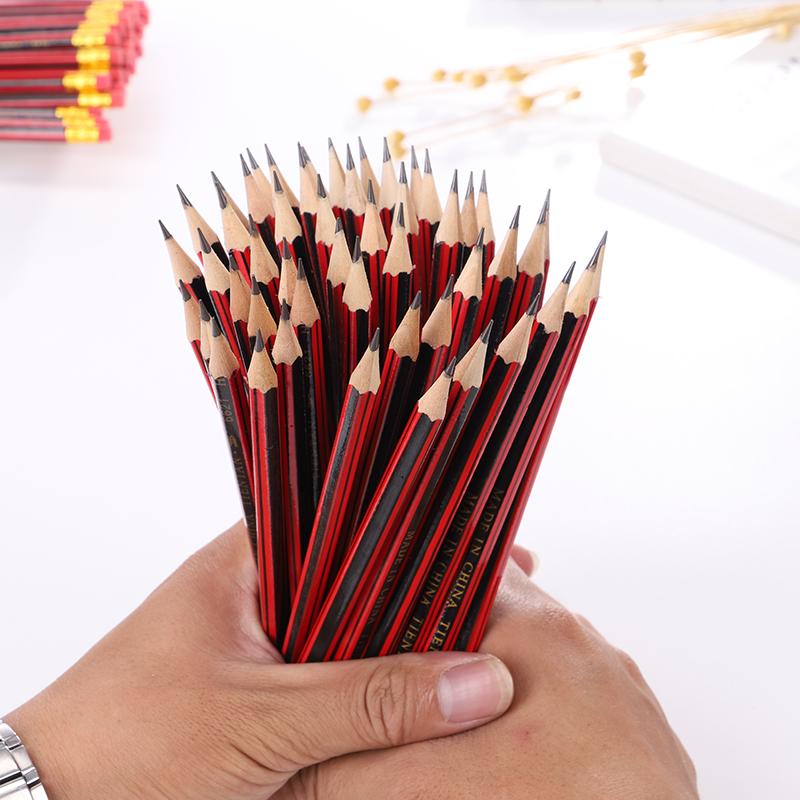 儿童原木hb铅笔卡通无毒铅笔幼儿园小学生铅笔写字文具套装批发