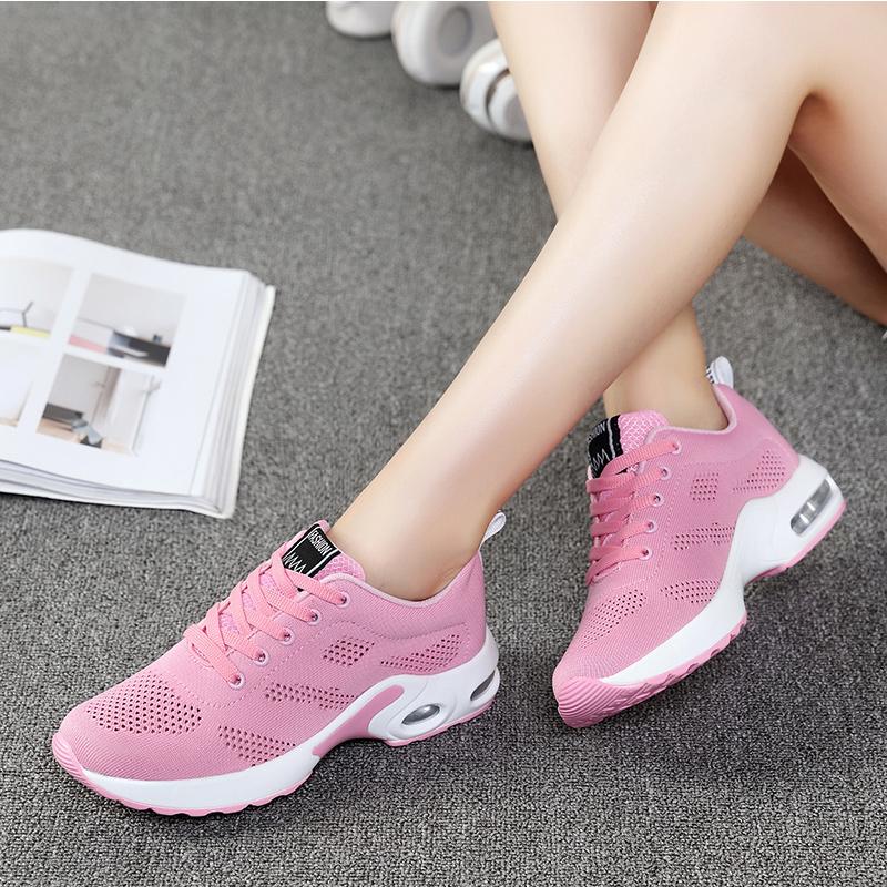 黑色运动休闲鞋女韩版跑步鞋