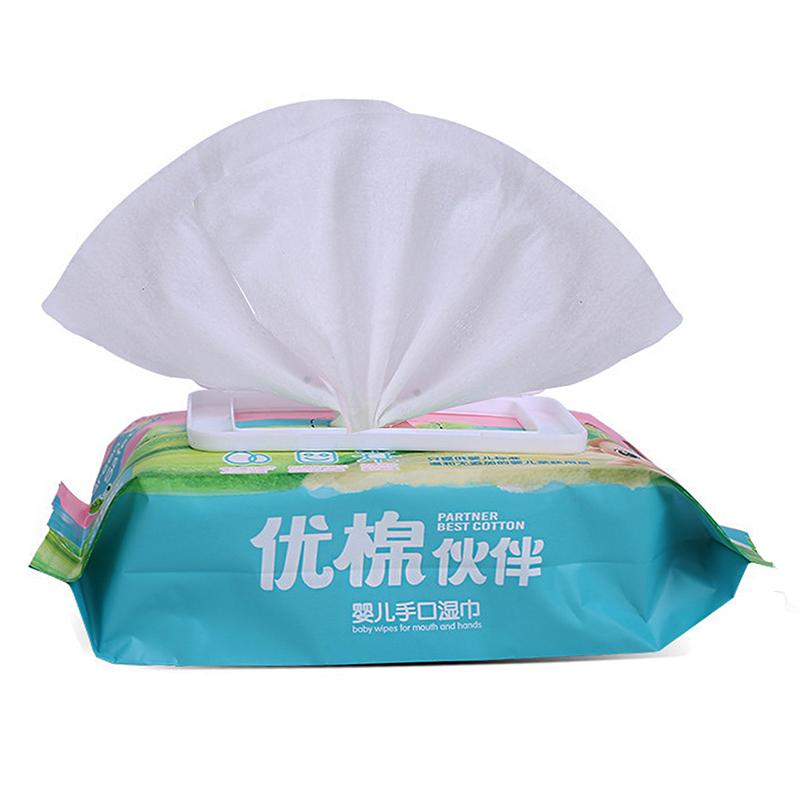 寶寶濕巾新生嬰幼兒手口屁專用大包裝特價濕紙巾家用帶蓋 80抽3包