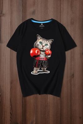 Chất béo 200 pound tăng chất béo và hip hop Harajuku ngắn tay T-Shirt nam mùa hè nam chất béo lỏng kích thước lớn nam triều