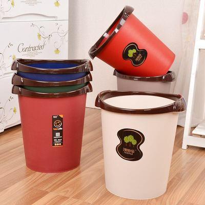 【买一送一同款】垃圾桶家用无盖大号小号卫生间客厅办公室垃圾桶