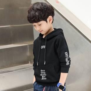 韩版儿童连帽上衣中大童外套男孩外套